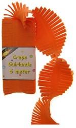 Crepeguirlande Oranje 5 mtr.