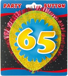 3D Button 65 Jaar