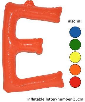 Opblaas Letter E 35cm Oranje