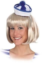 Diadeem Mini Hoed Matroos Blauw-Wit