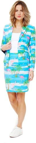Dameskostuum OppoSuits Flamingirl