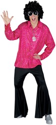Disco Blouse Glitter Pink
