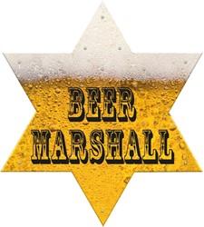 Sheriff Ster Bier Marshall met LED-Lampjes