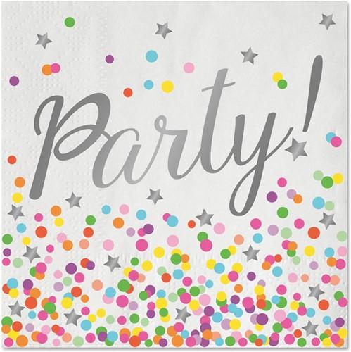 Servetten Party Confetti Luxe 33x33cm - 16st