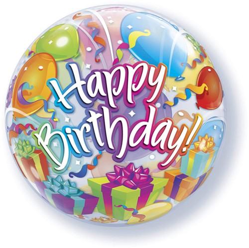Bubble Ballon Happy Birthday Surprise