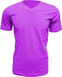 Heren T-Shirt V-Hals Paars (Slim Fit)