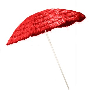Parasol Hawai 1,8mtr Rood