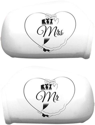 Autospiegelhoezen Mr. & Mrs.