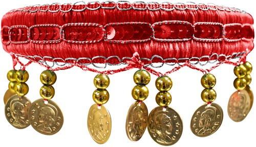 Haarband Zigeuner Luxe Rood