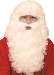 Baardstel Kerstman Luxe + Wenkbrauwen Ecru