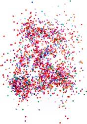 Confetti 100 gram Multi Luxe (Rond 8mm)