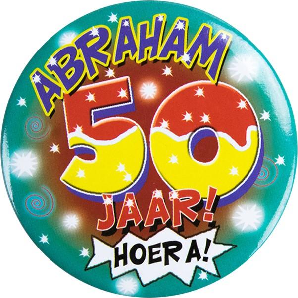 Onwijs Button Abraham 50 jaar! Hoera! IZ-25