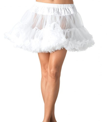 Petticoat Wit Luxe Plus Size (2 laags)