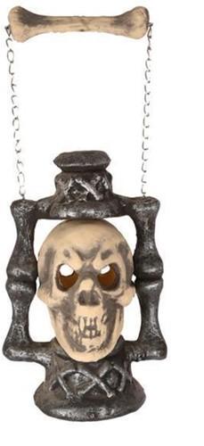 Lantaarn Skull 30cm+Licht