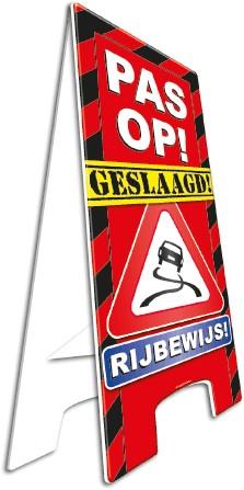 Warning Sign Rijbewijs!