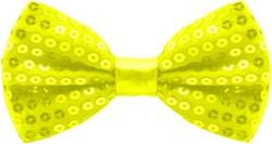Pailletten Strikje Neon Geel