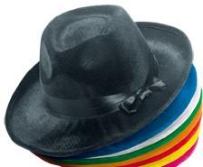 Al Capone hoed velours Wit