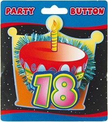 3D Button 18 Jaar