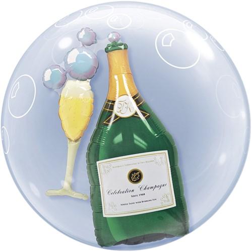 Double Bubble Ballon Champagne en Glas