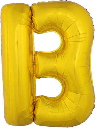 Folieballon Letter B Goud 100cm