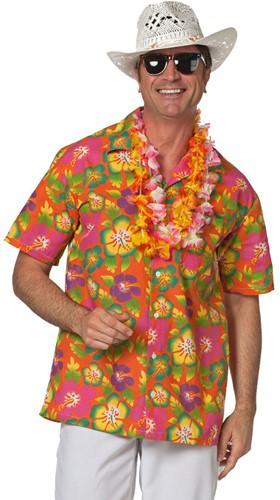 Hawaii Blouse Flower Orange