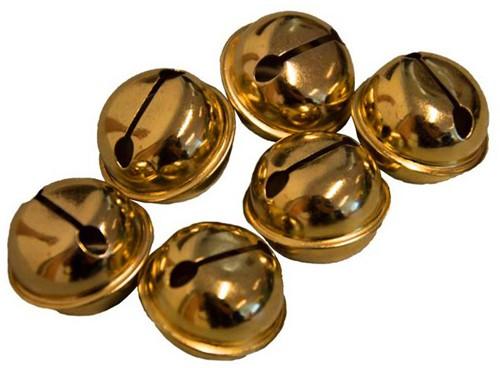 Belletjes 26mm (12x) Goud
