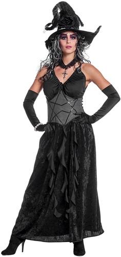 Zwarte Heksenjurk Black Angel voor dames