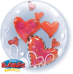 Double Bubble Floating Hearts