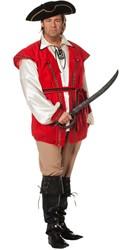 Piratenpak Red Beard voor heren