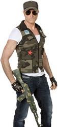 Herenkostuum Camouflage Vest + Pet