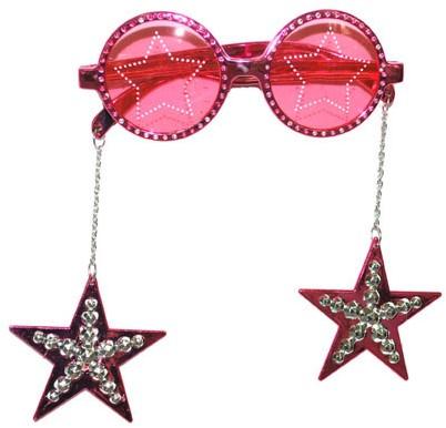 Disco Bril Star de Luxe Roze