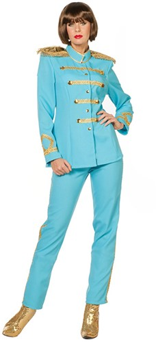Dameskostuum Sergeant Pepper Aqua