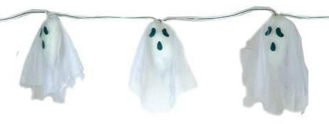 Halloween Slinger Spookjes met licht (170cm)
