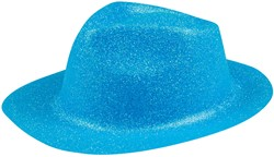 Disco Glitter Hoed Turquoise