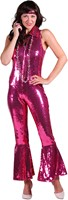 Pailletten Catsuit Luxe Pink voor dames-3