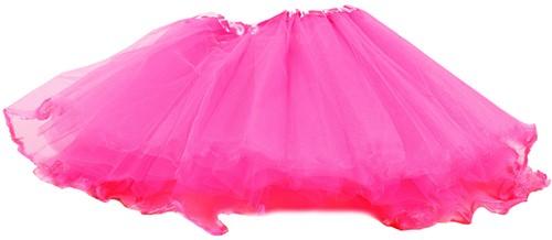 Kinder Tule Rokje 3 Lagen Pink