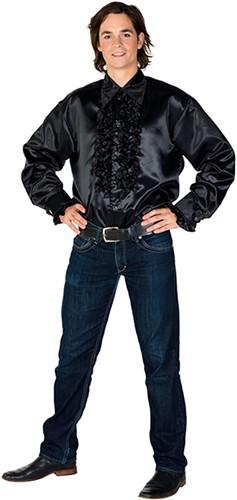Rucheblouse Super Luxe Zwart