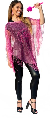 Toppers Poncho Pink