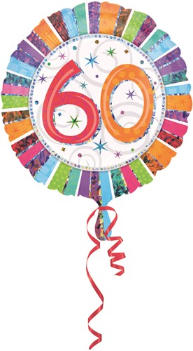 Folieballon 60th B-day Prismat 45cm