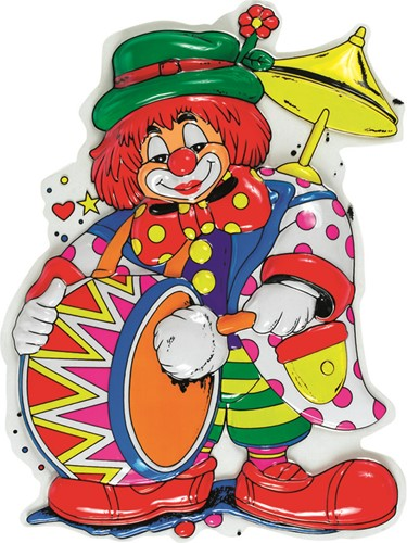 Deco Clown Trommel (55x48cm)