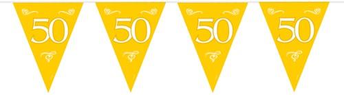 Vlaggenlijn 50 jaar Goud 10mtr