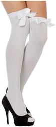 Overknee Kousen Wit met Witte Strik