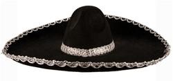 Sombrero Zwart Vilt (60cm)
