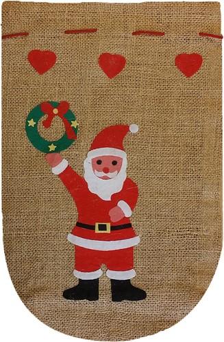 Jute Kerstzak Beige