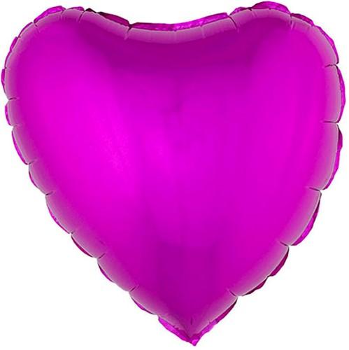 Folieballon Hartje Metallic Pink (52x46cm)