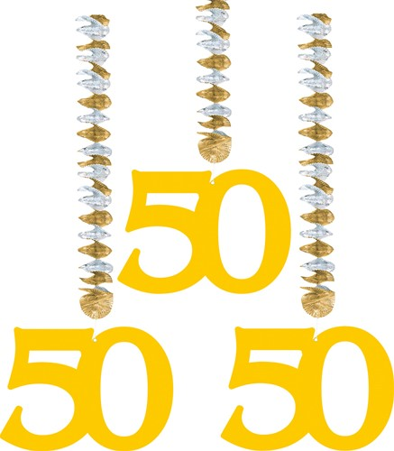 Hangdeco 50 Goud 3st.