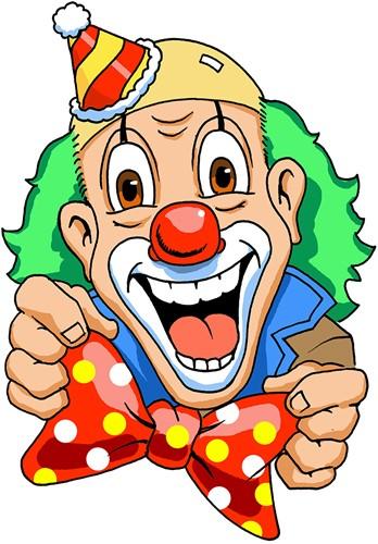 Wanddeco Clown Nopstrik