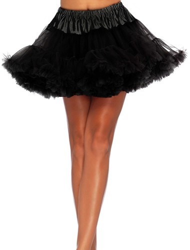 Petticoat Zwart Luxe Plus Size (2 laags)