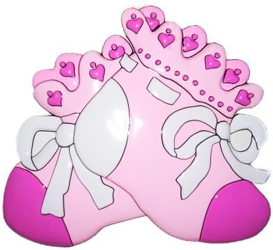 Wanddeco Roze Schoentjes