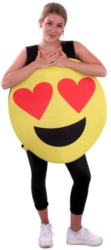 Kostuum Emoticon Smiley met Hartjes Ogen
